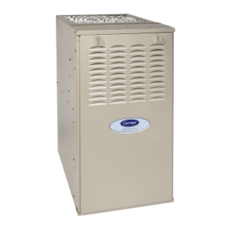 Carrier Infinity 80 Ultra-Low NOx gas furnace.