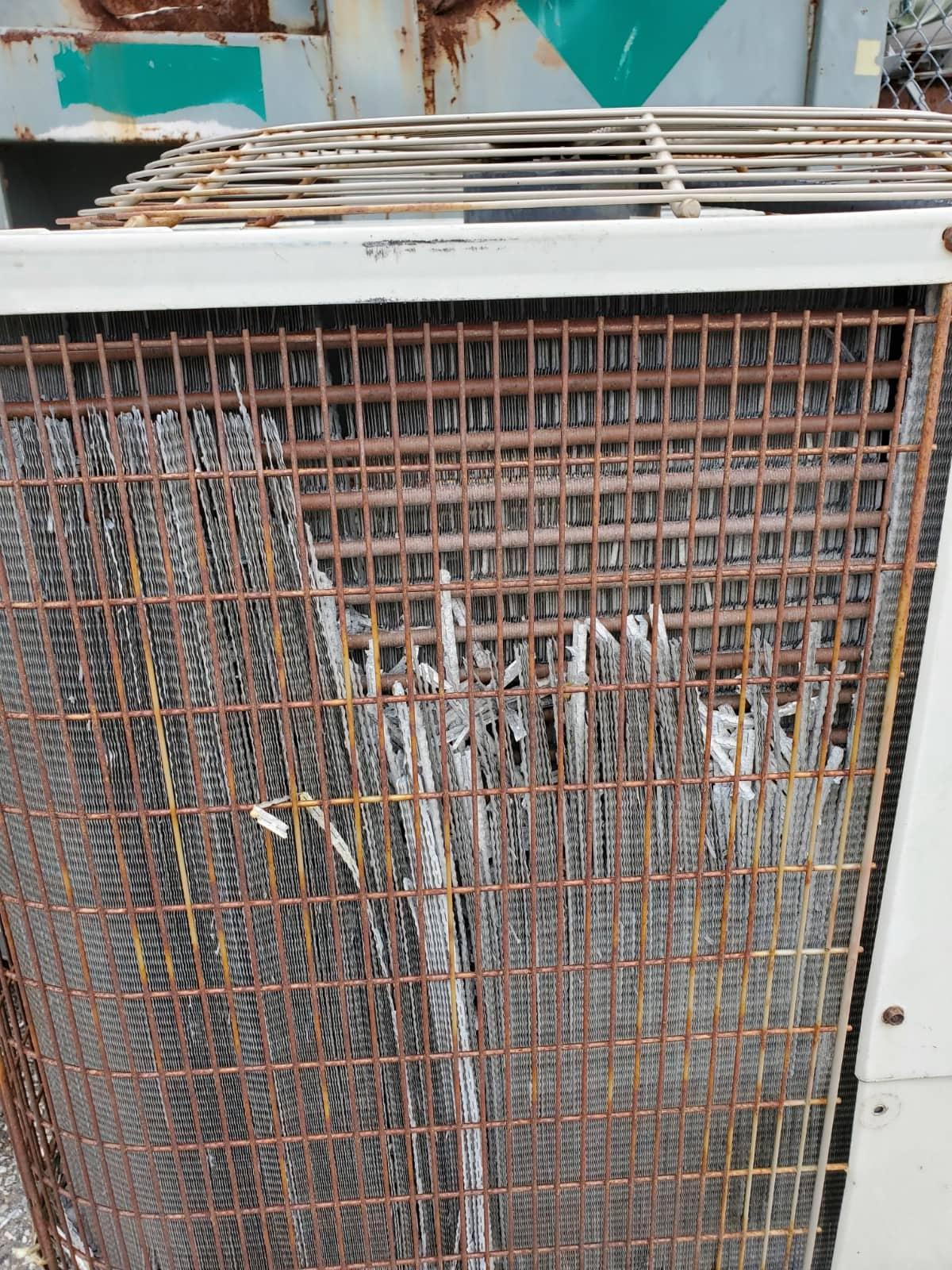 corroded HVAC system