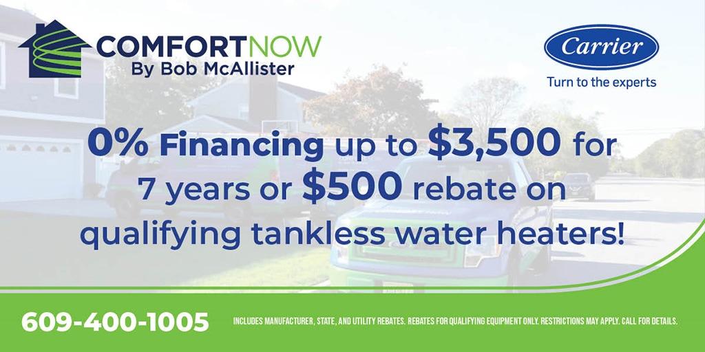 tankless water heater rebates
