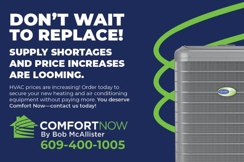 Don't Wait to replace. HVAC price increases are coming.