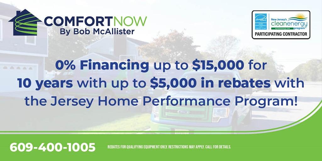 Jersey Home Performance rebates